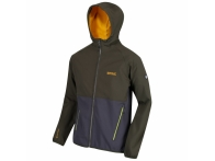 Arec II Hooded Softshell Jacket Dark Khaki Seal Grey